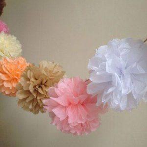 pompones de papel de seda mallorca