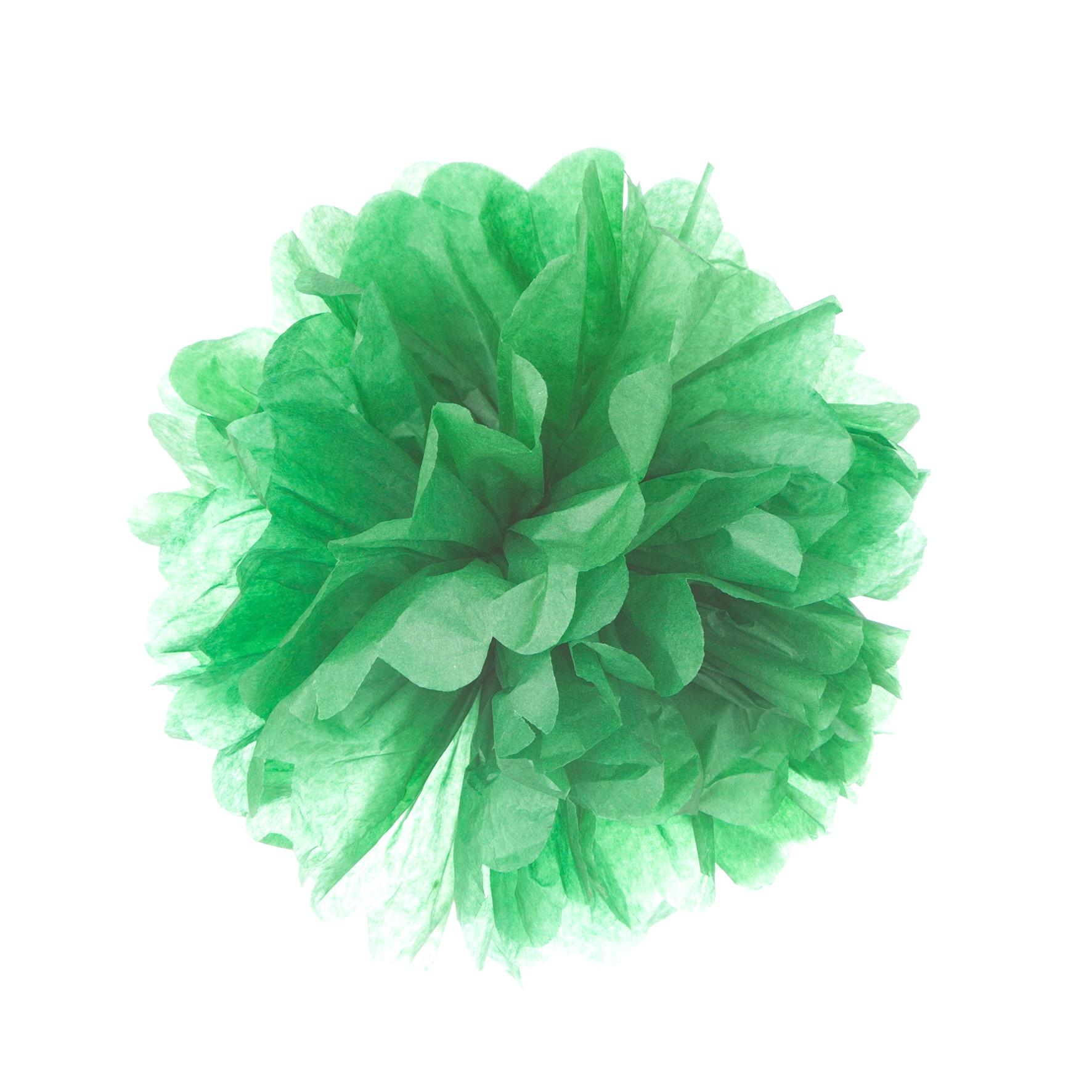 Pompom de papel de seda en color verde