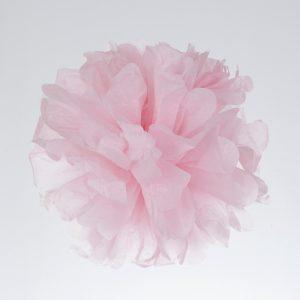 Pompones en color rosa para bautizos