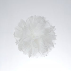 Pompom de papel color blanco
