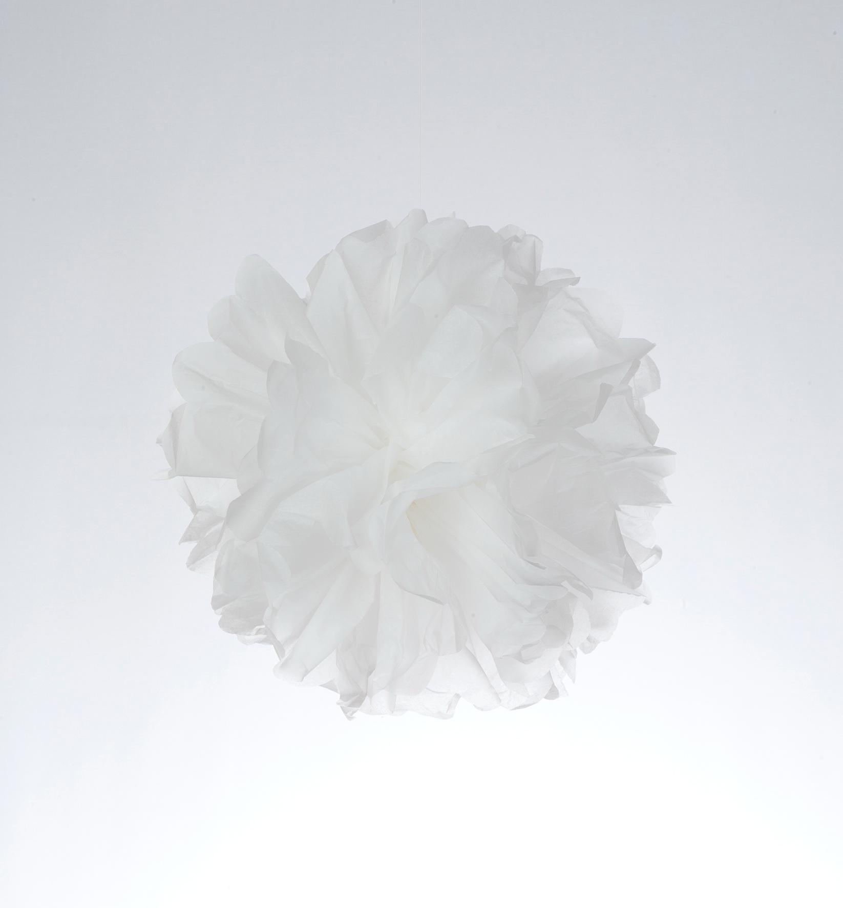 Pompom de papel color blanco