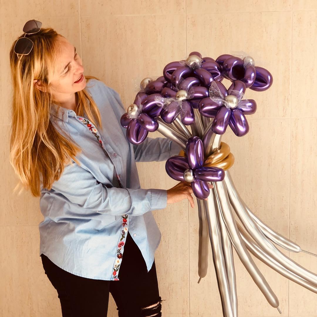 Bouquet de Flores con Globos