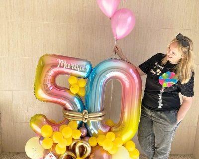 Bouquets globos de cumpleaños