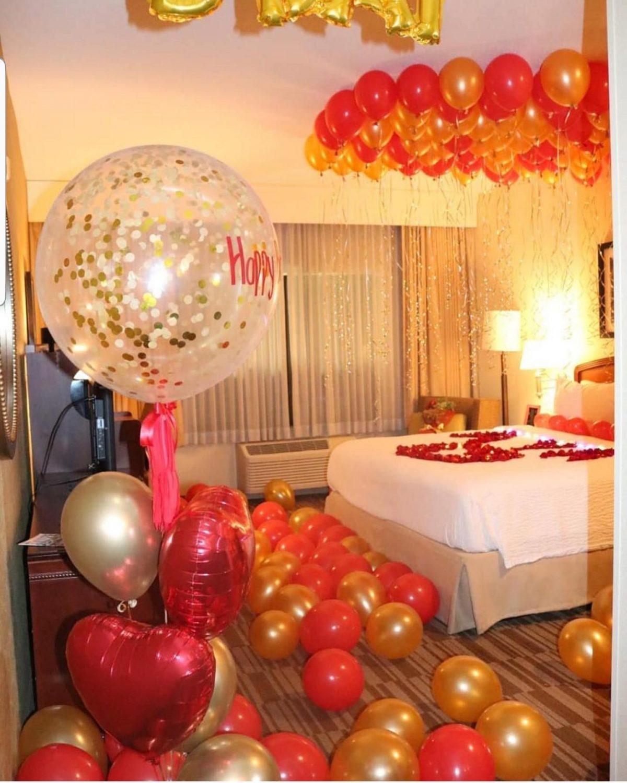 Decoracion de habitaciones con globos