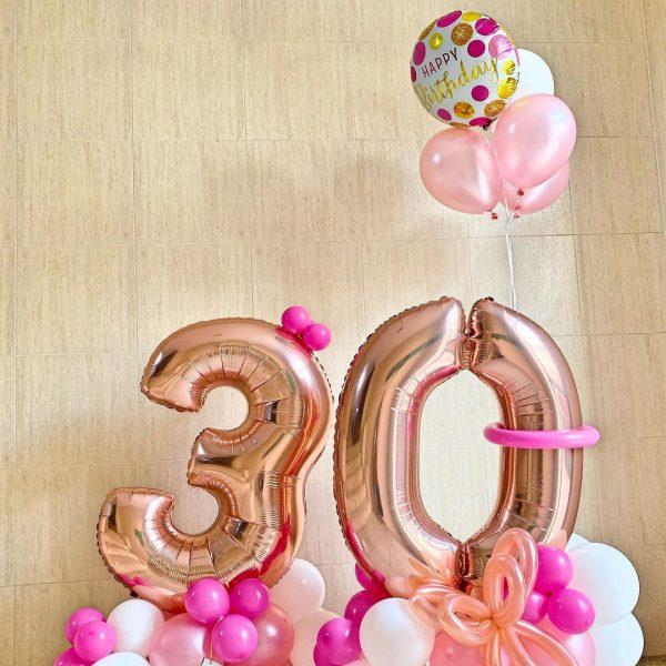globos de numeros