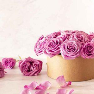 Flores Naturales en Caja